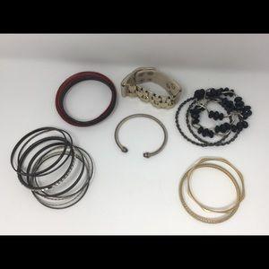 Bracelets bundle set random design multi color